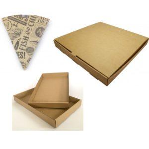 Kompostovateľné krabice, obaly, vrecká
